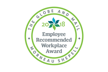 Award 2017 Employee Globe Mail Recommended Workplace 2X