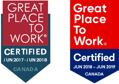 Award 2018 Certified Great Place To Work V2 2X
