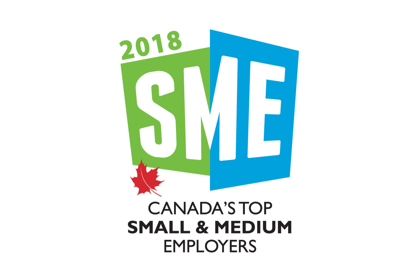 Award 2018 Top Small Medium Employers 2X