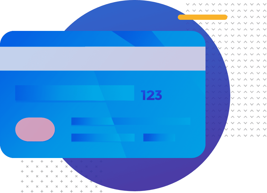 Illustration of a credit card