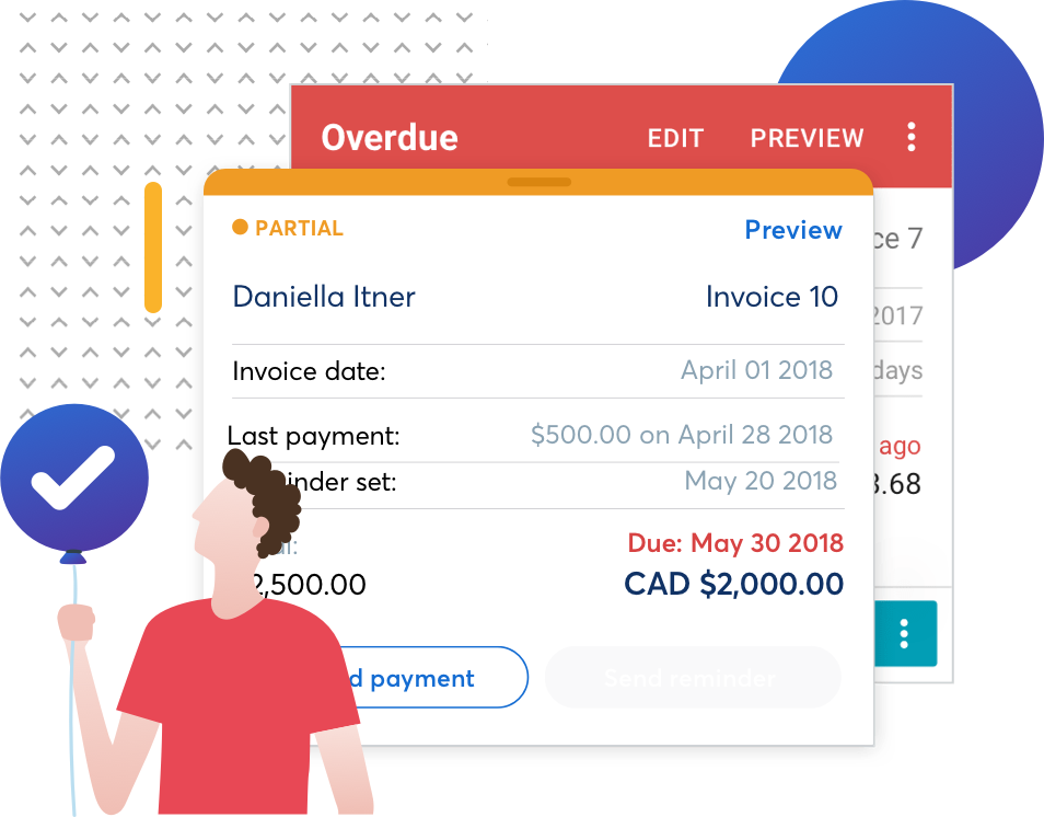 Spot Invoicing Mobile Reminders