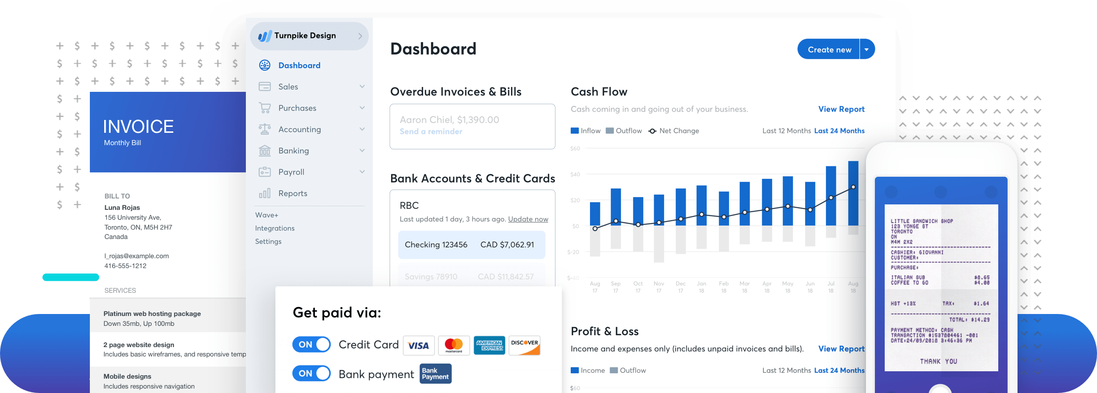Wave Financial Financial Software For Small Businesses - Free software for billing and invoicing for service business