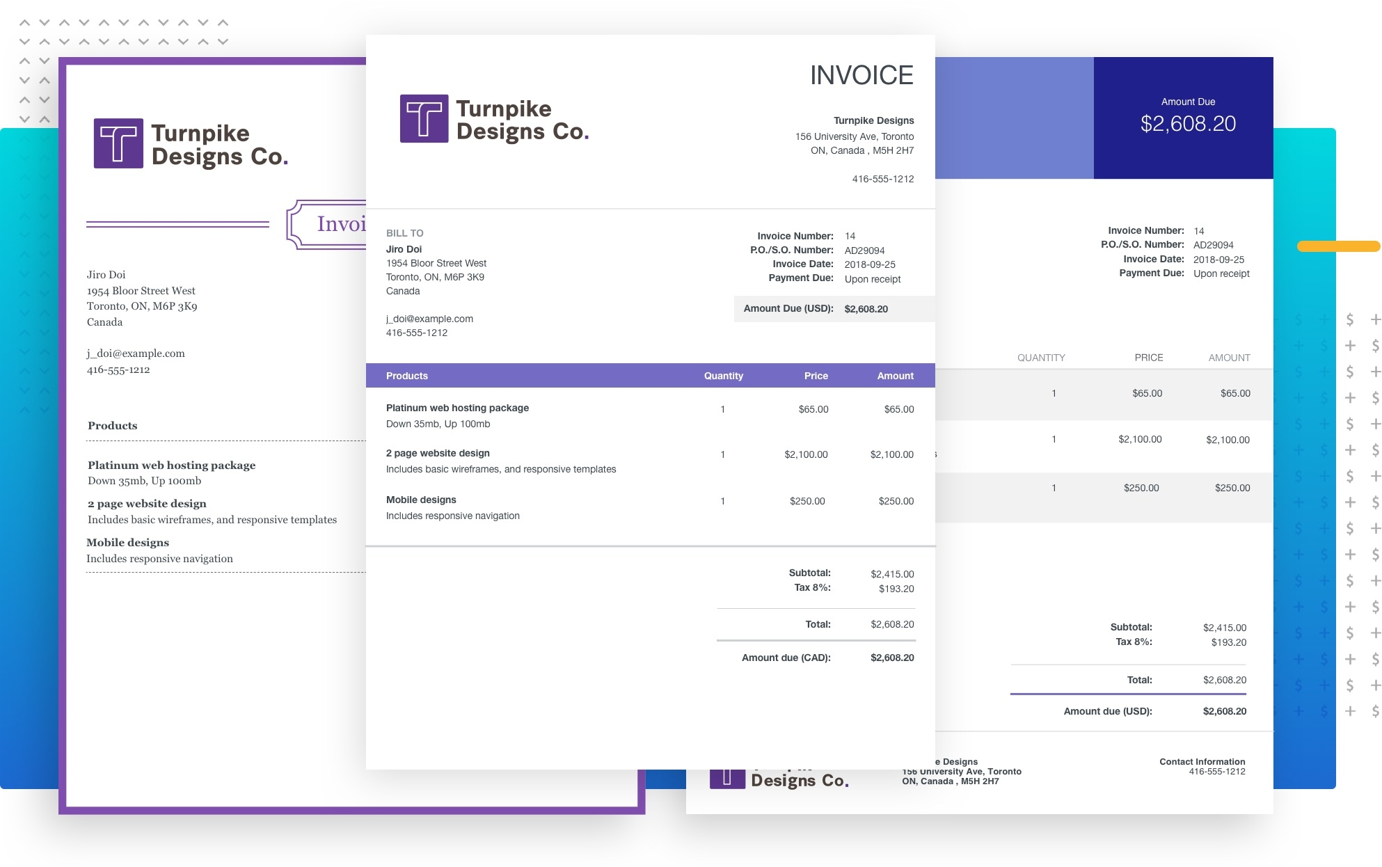 Our invoice templates