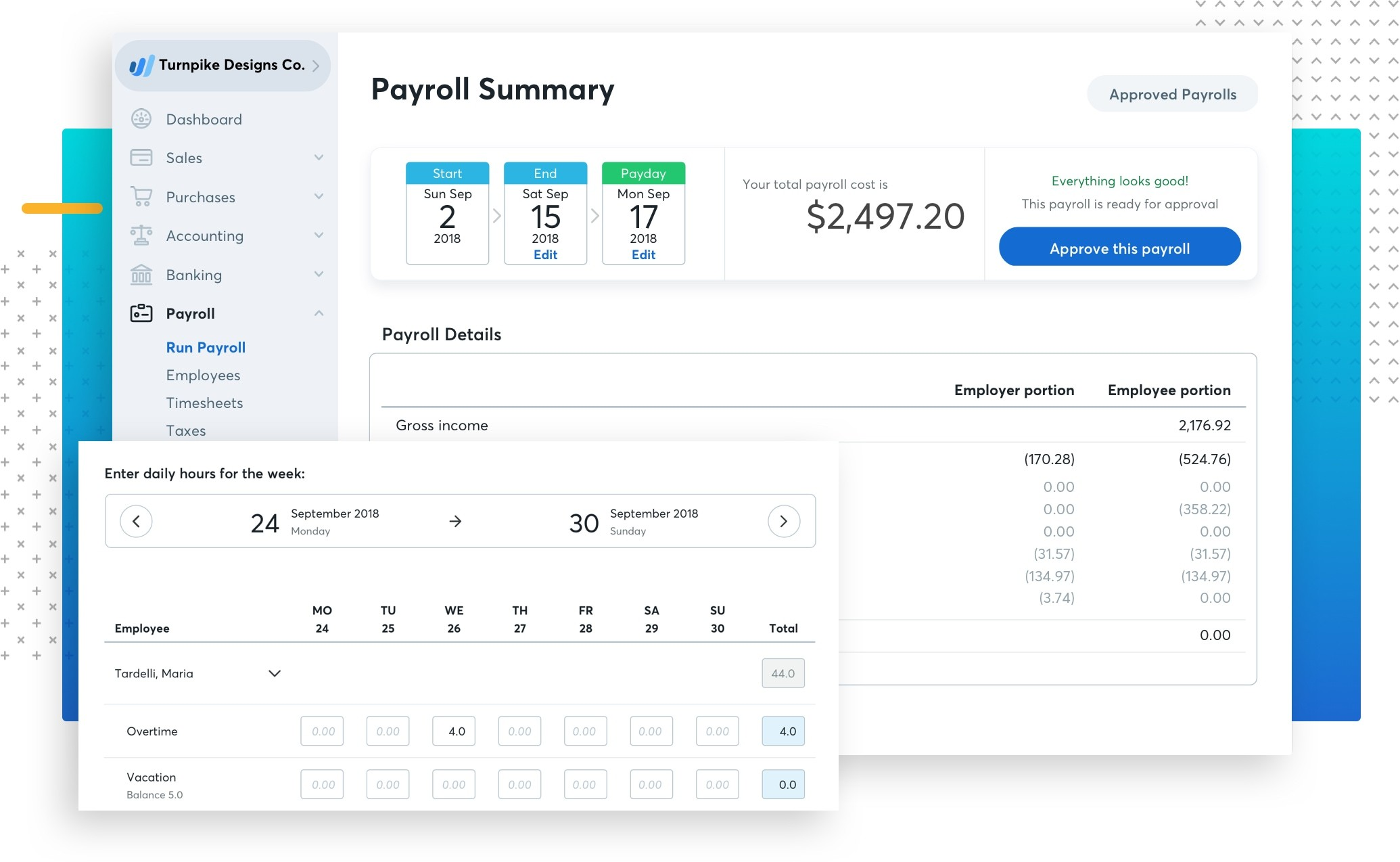 Payroll Showcase