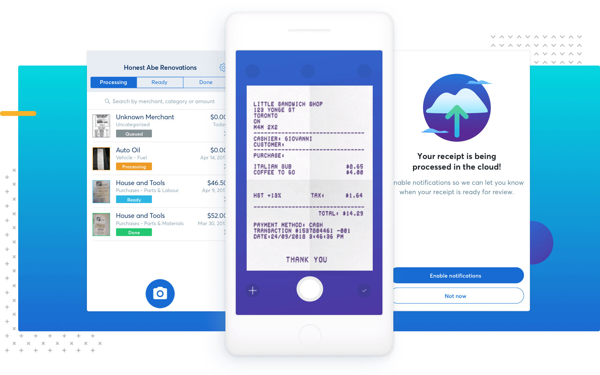 scan and track receipts for free receipts by wave