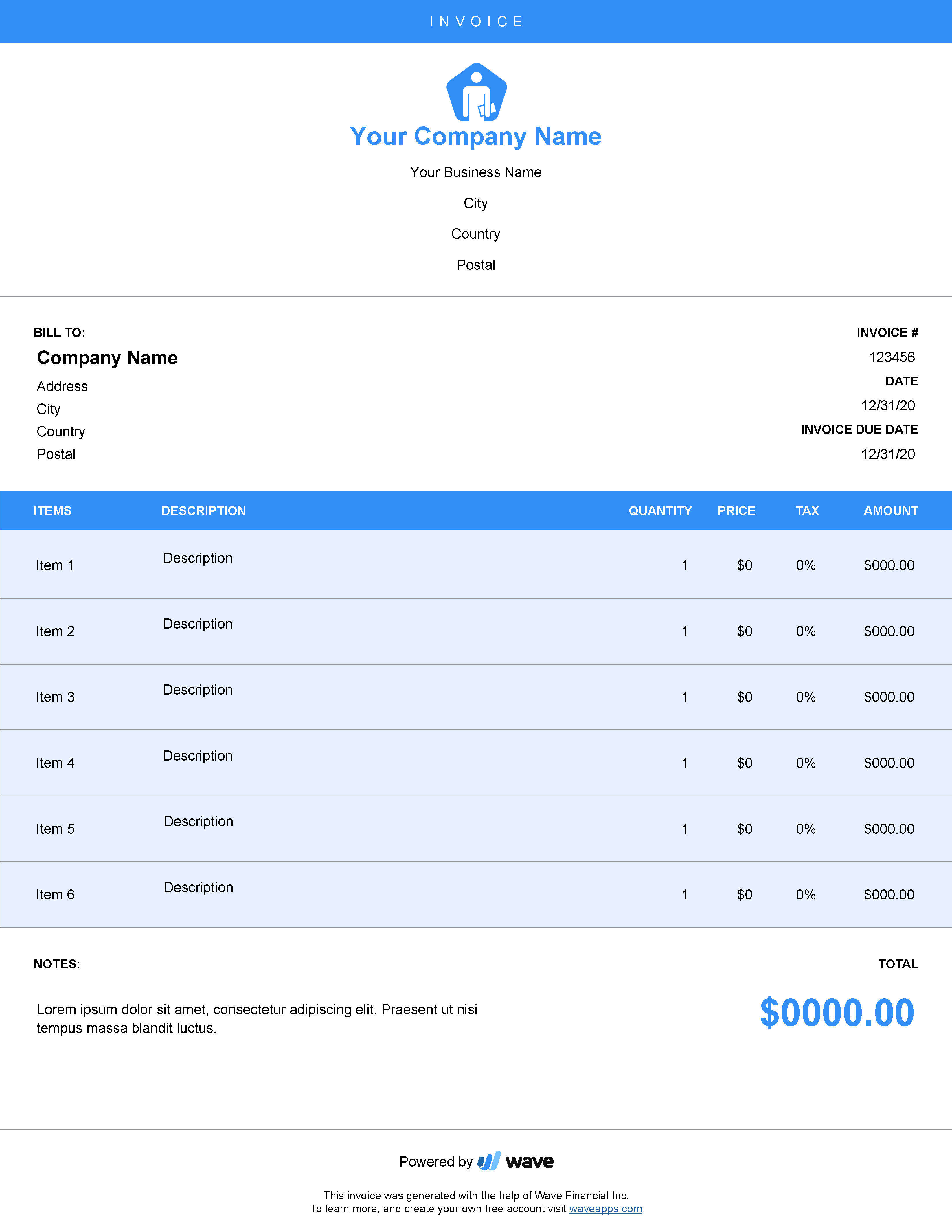 Invoice Template Create Send Invoices Using Free Invoicing Templates