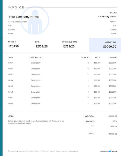 Self Employed Invoice Template Best Free And Simple Templates