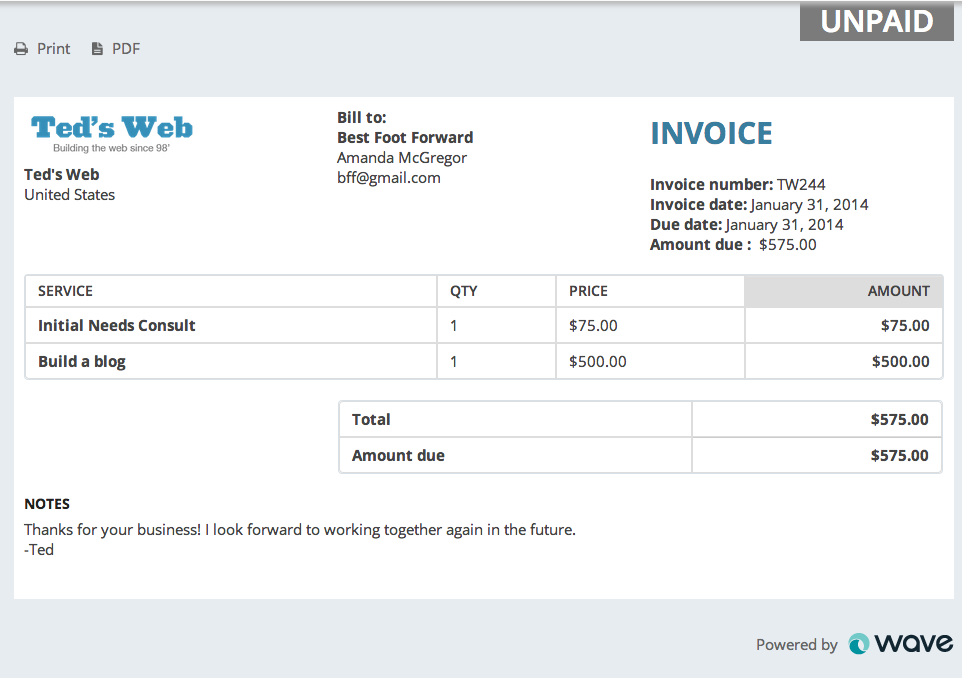 Have You Customized Your Invoices Yet Bravely Go - Invoice with bank details