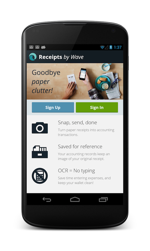 Receipts by Wave gets uploads from Drive, Dropbox and more - Bravely Go