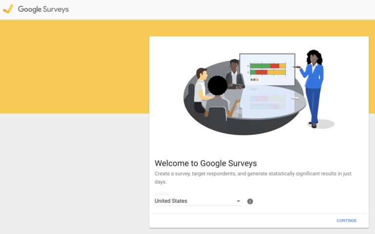 Screenshot of google survey