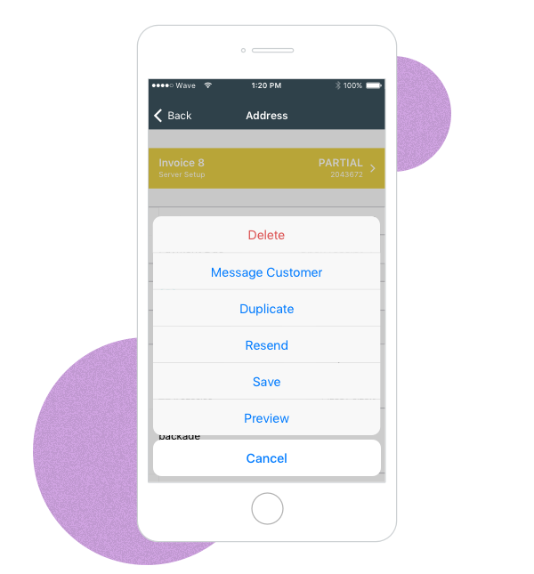 duplicate-ios image New features for mobile invoicing