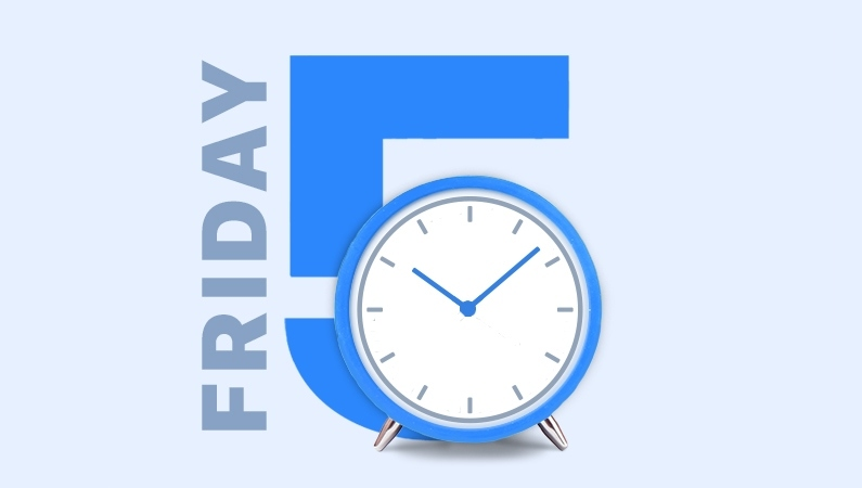 "illustration that reads ""friday 5"""