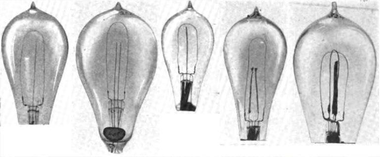 photo of the first lightblub