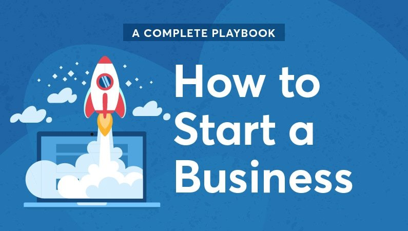 "an illustration of a rocketship with the text ""how to start a business"""