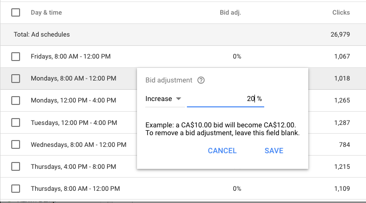 AdWords screenshot 3