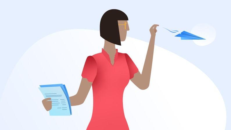 woman handling paperwork