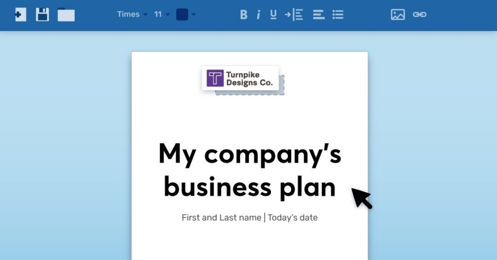 How To Write Your Business Plan Cover Page Wave Blog