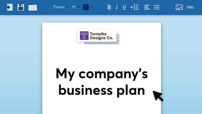 Creating a business plan cover page
