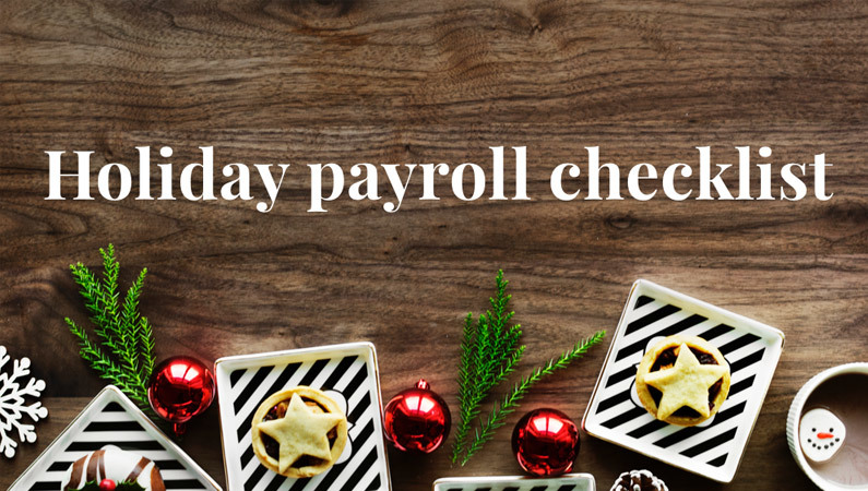 Holiday payroll checklist